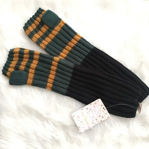 Free people fingerless gloves emerald combo